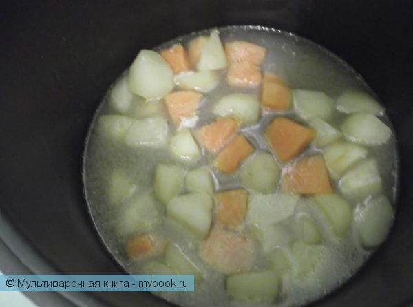 Вторые блюда: Пюре из тыквы и картофеля с курицей