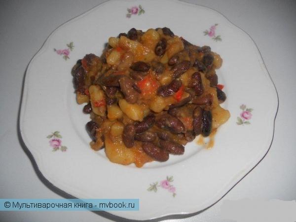 Картофельно-фасолевое рагу