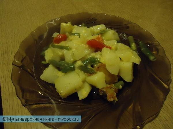 Вторые блюда: Картошка с стручковой фасолью и сыром