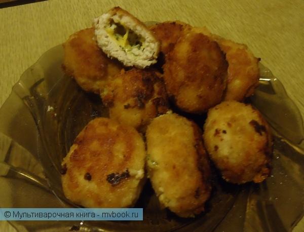Вторые блюда: Котлеты с сыром и зеленью