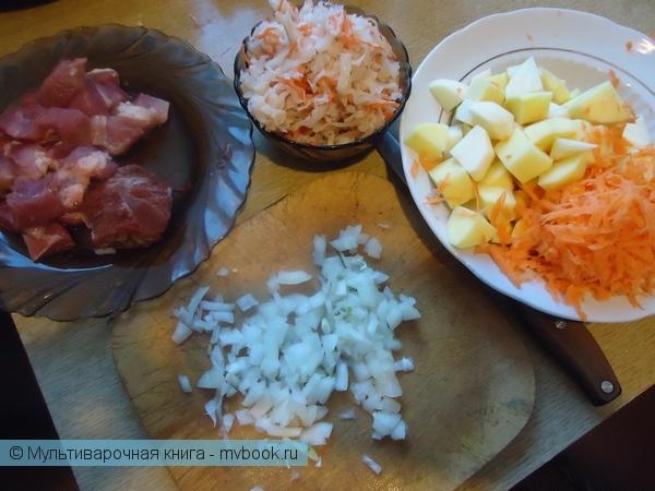 Первое блюдо: Борщ с квашеной капустой