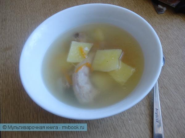 Первое блюдо: Суп Куриная шейка