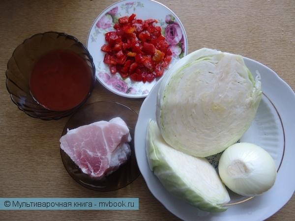 Вторые блюда: Тушеная капуста с мясом