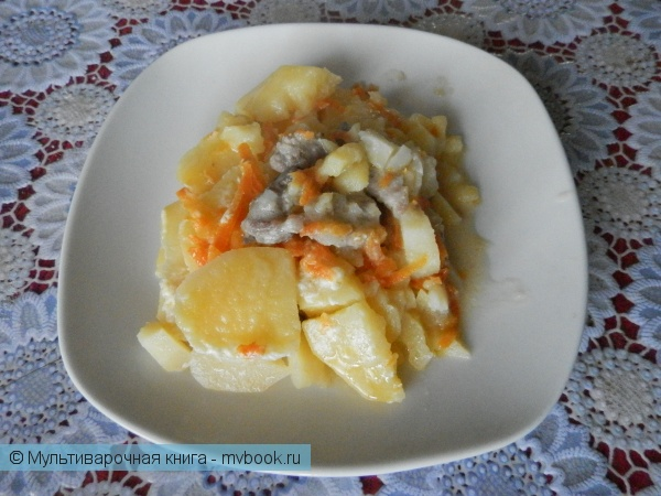 Вторые блюда: Нежнейшая тушеная картошка со свининой