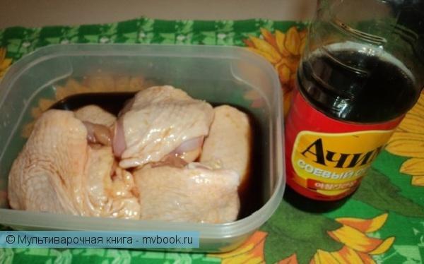 Вторые блюда: Куриные бёдрышки в соевом соусе