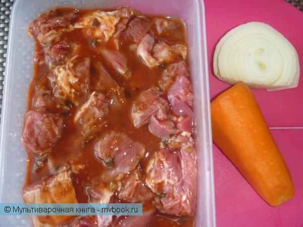 Вторые блюда: Баранина в шашлычном маринаде