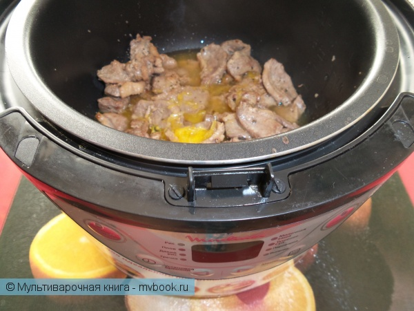 Вторые блюда: Утиное филе в апельсиновом фреше