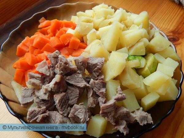 Салаты: Теплый салат с брюссельской капустой