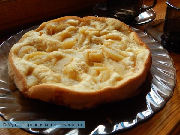Выпечка: Быстрый пирог с тыквой и яблоками
