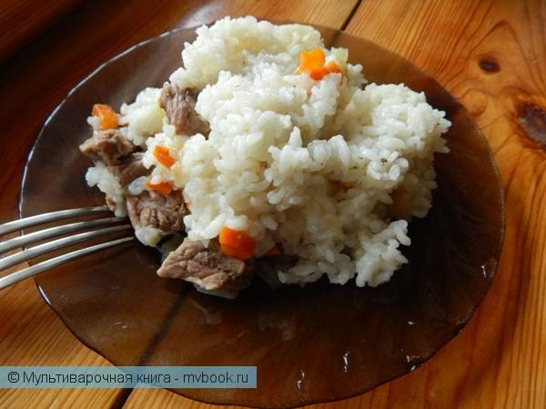 Вторые блюда: Рис с говядиной