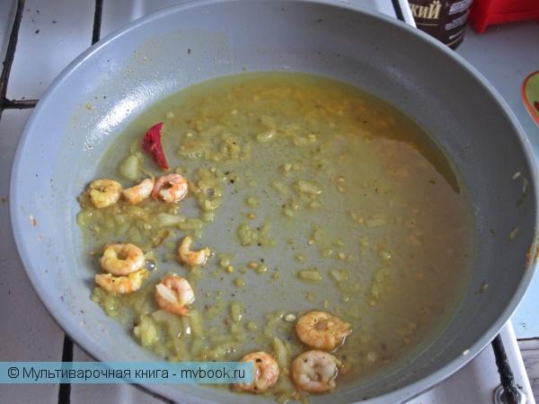 Вторые блюда: Острый рис с креветками