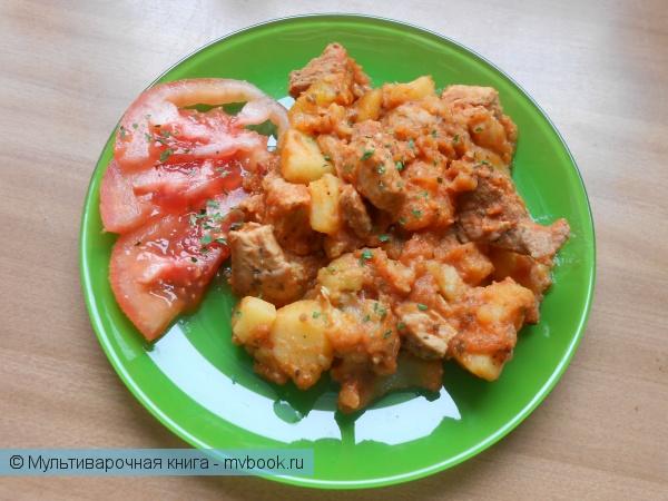 Вторые блюда: Свинина тушеная с овощами по-борисовски