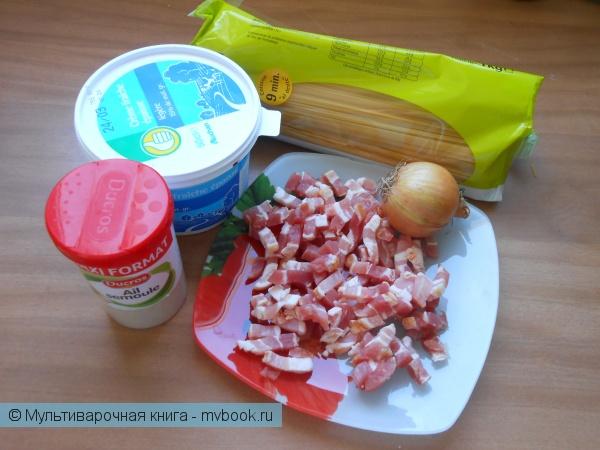 Вторые блюда: Спагетти а ля карбонара