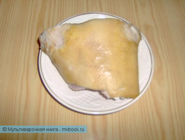 Закуски: Рулет из свиной рульки.