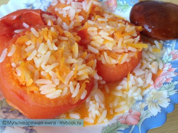 Вторые блюда: Фаршированные помидоры (постное блюдо)