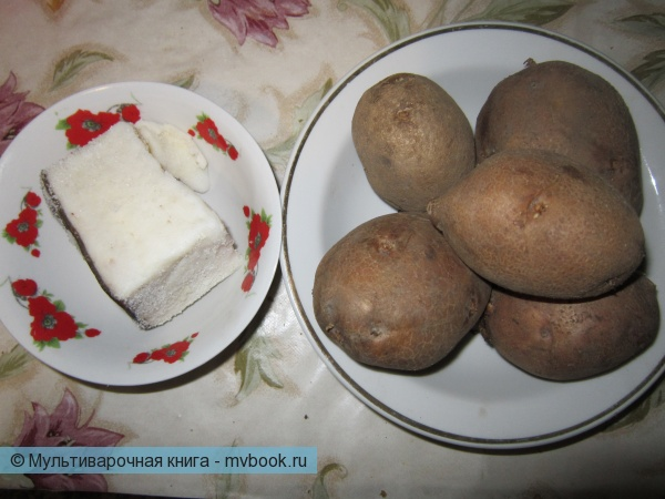 подготовим картофель и сало