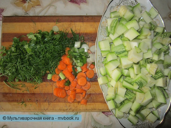 заранее подготовленные овощи