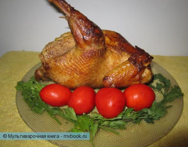 Курица, запеченная в мультиварке