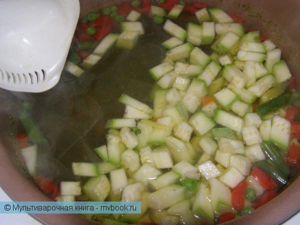 Детское меню: Овощной суп без картофеля с адыгейским сыром (или брынзой)