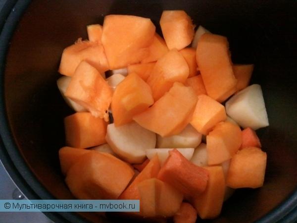 Первое блюдо: Суп-пюре из тыквы