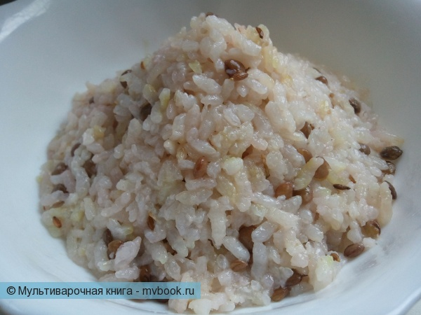 Вторые блюда: Рис с чечевицей
