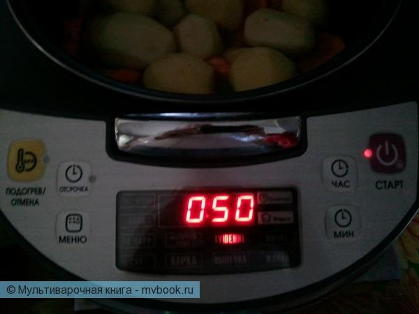 Вторые блюда: Тушеный картофель с кориандром