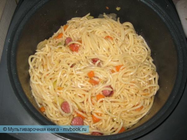 закиньте спагетти