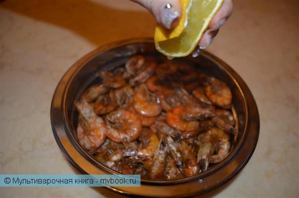 Закуски: Жареные креветки в мультиварке