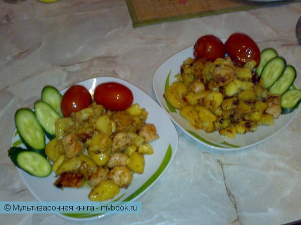 Вторые блюда: Деревенские колбаски с картофелем