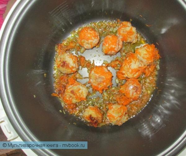 Каши: Гречневая каша с фрикадельками