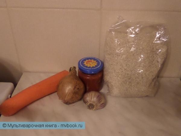 Вторые блюда: Рис с аджикой и морковью