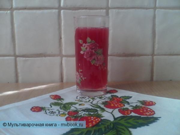 Кисель из мякоти красной смородины