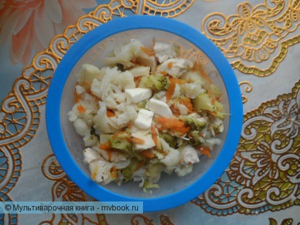 куриное филе с замороженными овощами в мультиварке