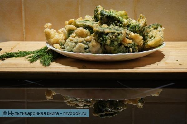 Вторые блюда: Брокколи во фритюре.