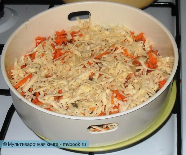 Вторые блюда: Горбуша под сырной корочкой на пару