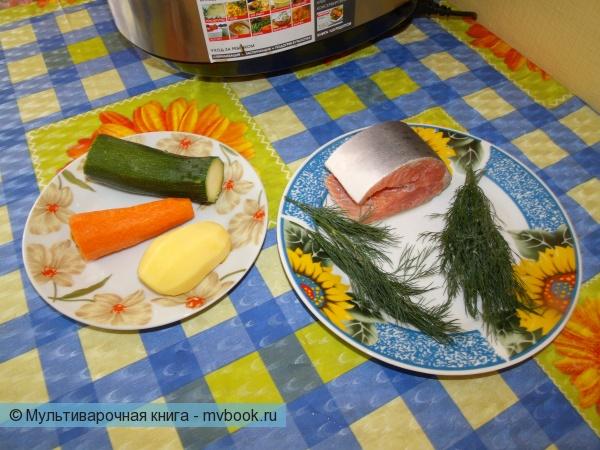 Овощи чистим. Горбушу чистим.