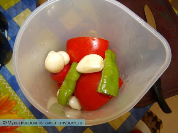 Овощи блендерим
