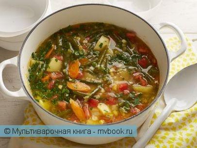 Первое блюдо: Овощной сытный суп