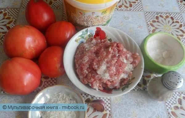 Вторые блюда: Фаршированные помидоры запеченные